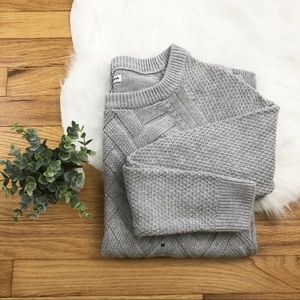 Sonoma Ash Gray Lattice Stitch Sweater